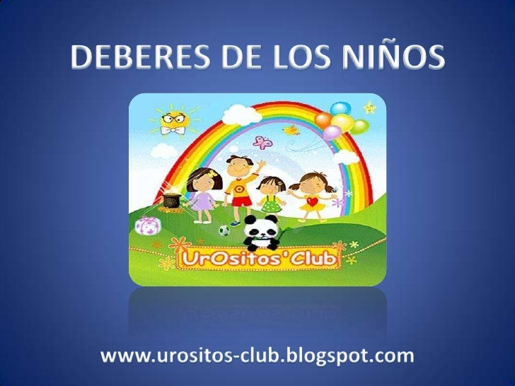 deberes de los ninos as: