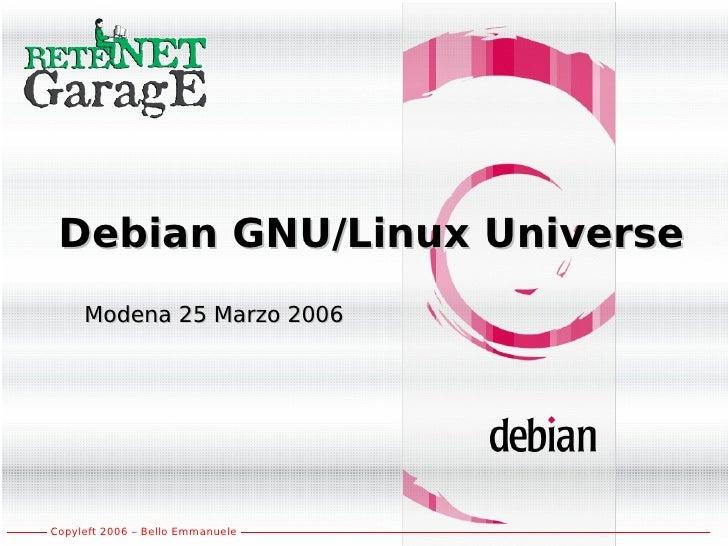 Debian Intro