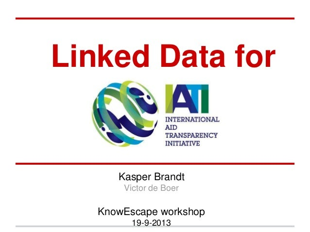 Linked Data for Kasper Brandt Victor de Boer KnowEscape workshop 19-9-2013