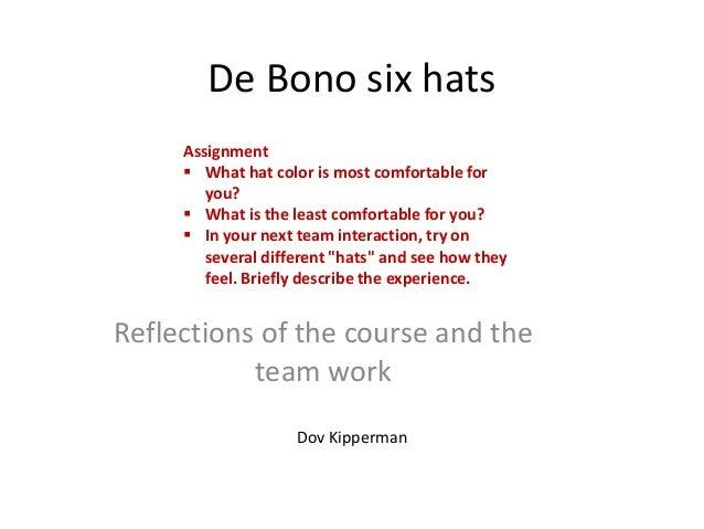 De bono six hats  individual assignment- dov