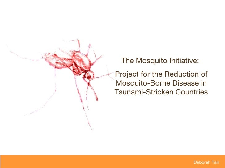 Deborah Tan  The Mosquito Initiative:  Project for the Reduction of Mosquito-Borne Disease in Tsunami-Stricken Countries