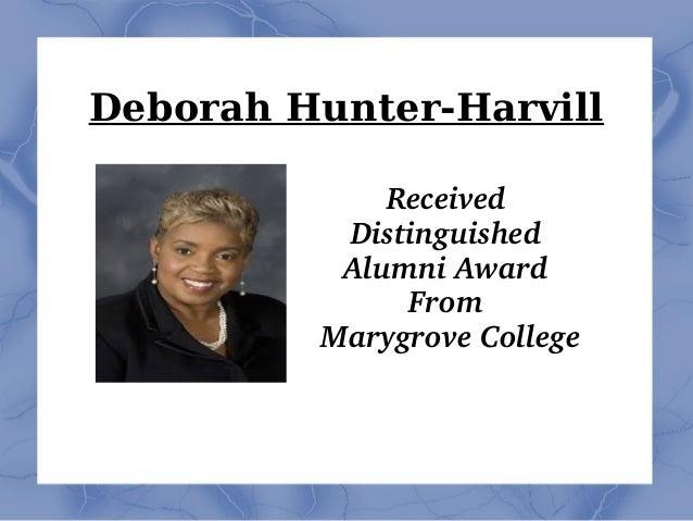 Deborah Hunter-Harvill Received Distinguished AlumniAward From MarygroveCollege