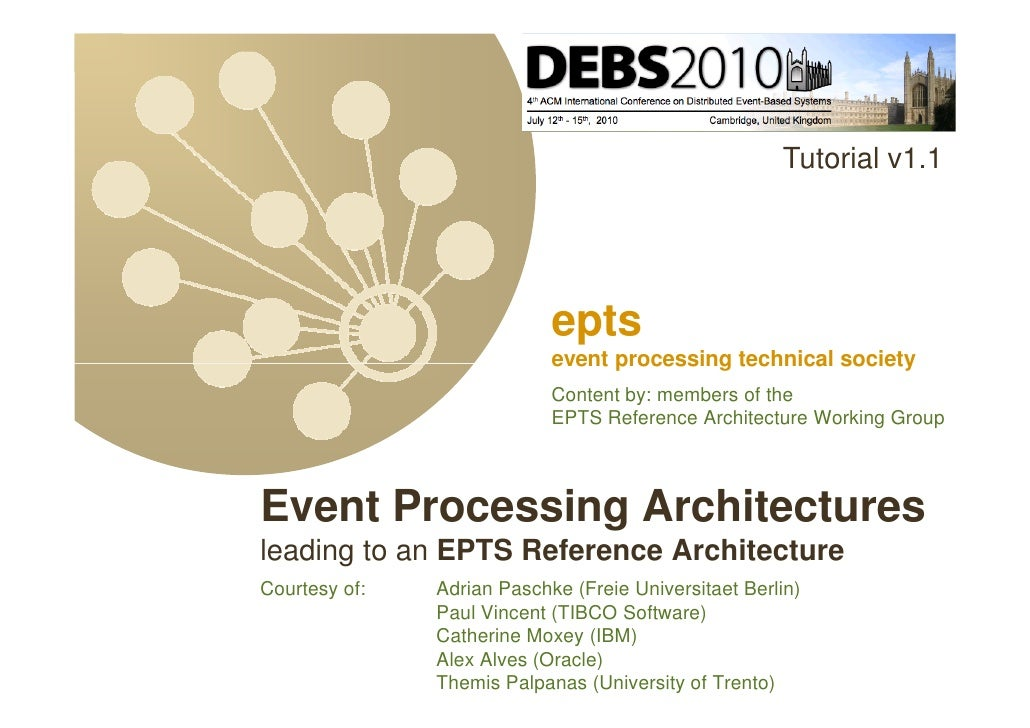 Debs2010 tutorial on epts reference architecture v1.1c