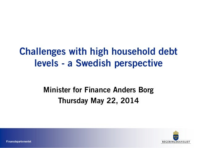 Challenges with high household debt levels - a Swedish perspective