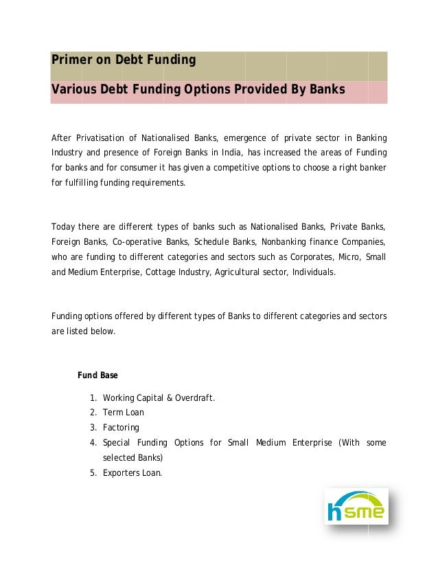 Debt Funding Primer Vipul Thaker Oct 2010 - copy