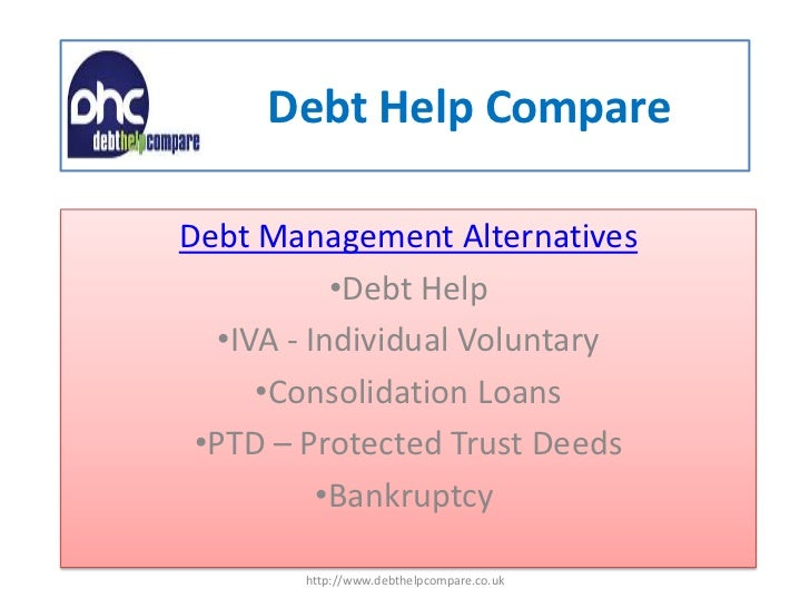 Debt help compare slide