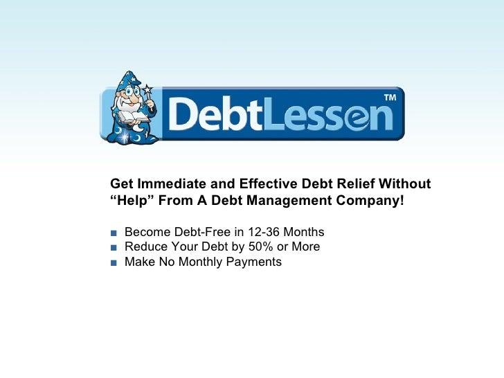 DebtLessen - Debt Settlement, Reduction & Negotiation Solutions