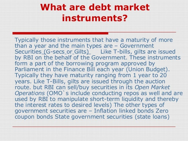 What are debt instruments?