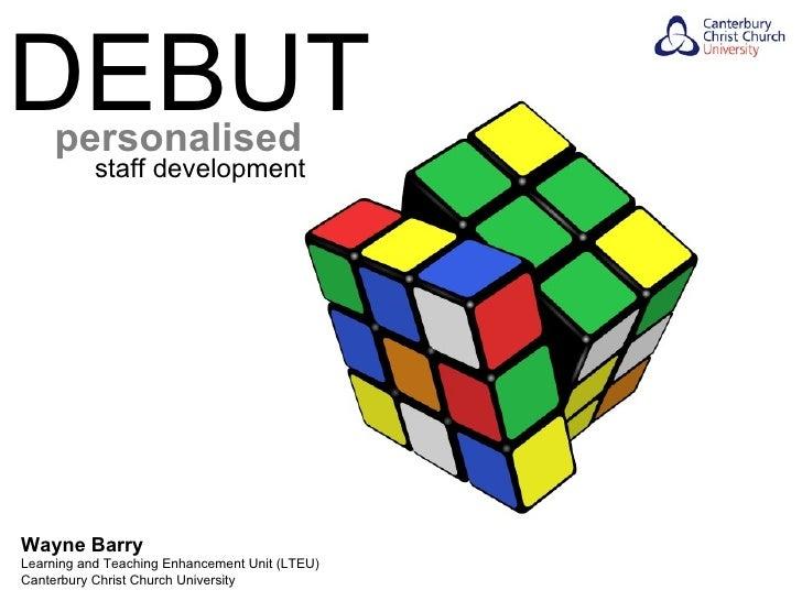 DEBUT - Personalised Staff Development