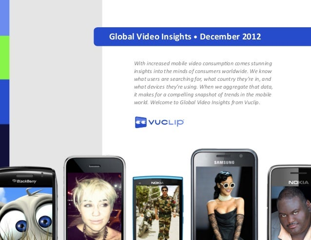 Global Video Insights • December 2012      With increased mobile video consumption comes stunning      insights into the m...