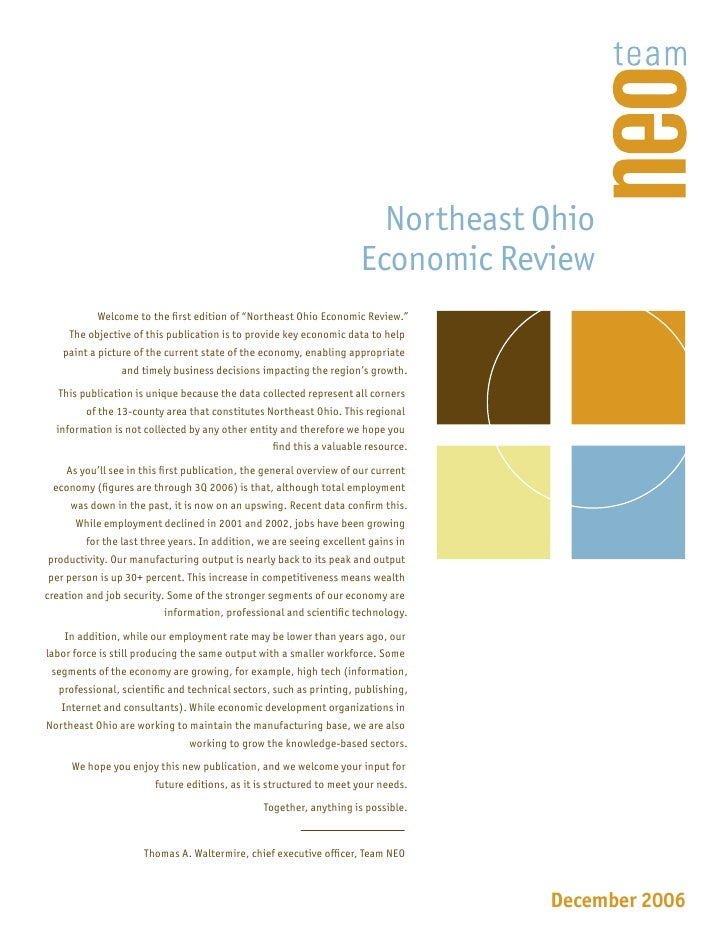 Northeast Ohio                                                                      Economic Review            Welcome to ...