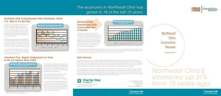 Northeast        Ohio   Economic     Review     December 2007     Northeast Ohio's economy up 31% from 15 years ago.