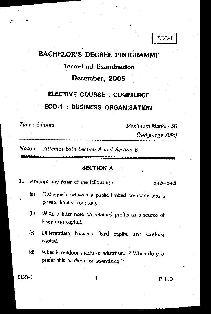 BACHELOR'S DEGREE PROGRAMME                    Term-End Examination                       December.2OO5               ELEC...