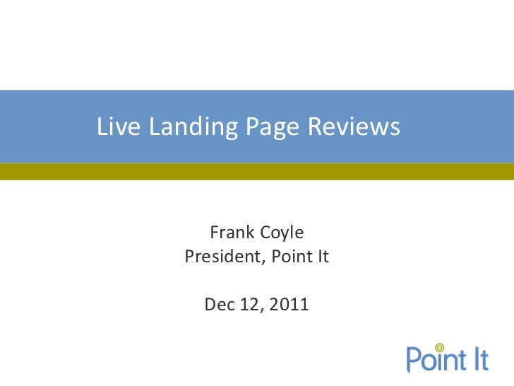 Live Landing Page Reviews