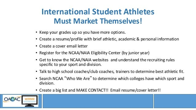 webinar wednesday student athletic recruitment