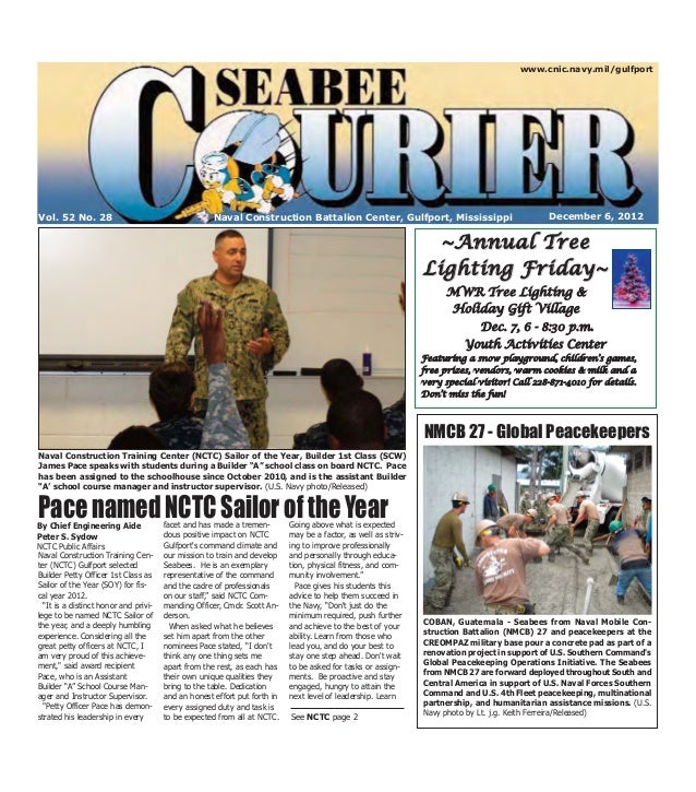 Seabee Courier, Dec. 6, 2012