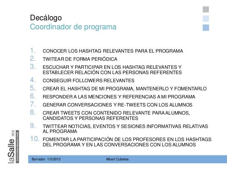 Decálogo coordinador de programa