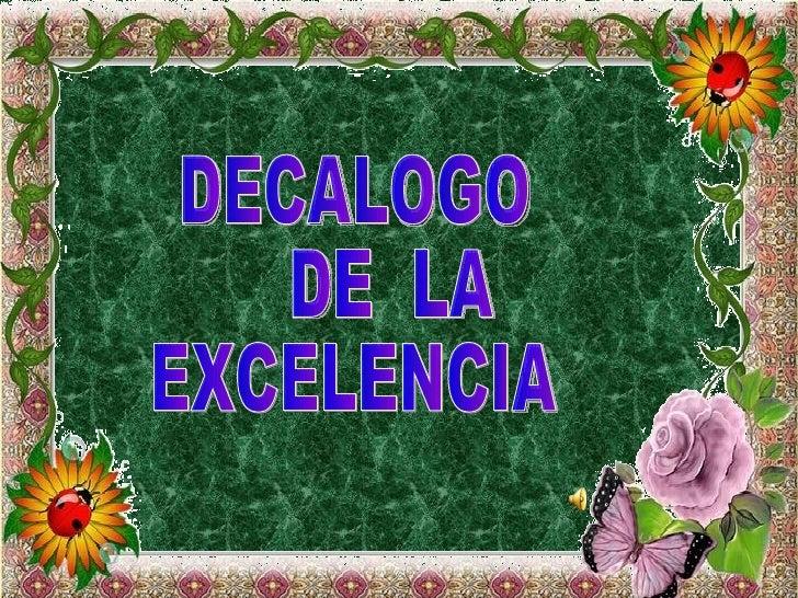 Decalogo de la excelencia