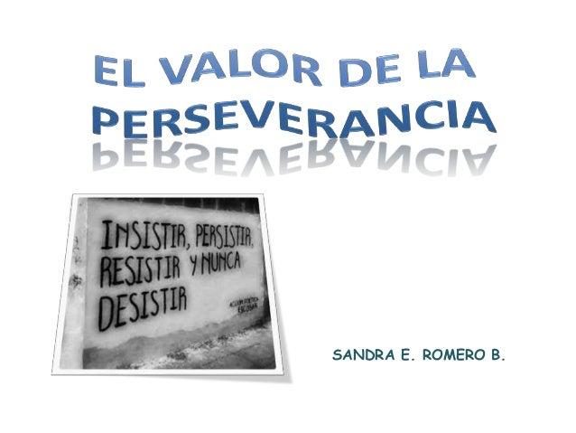 SANDRA E. ROMERO B.