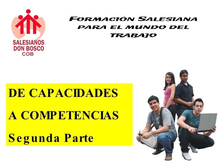 DE CAPACIDADES  A  COMPETENCIAS 2
