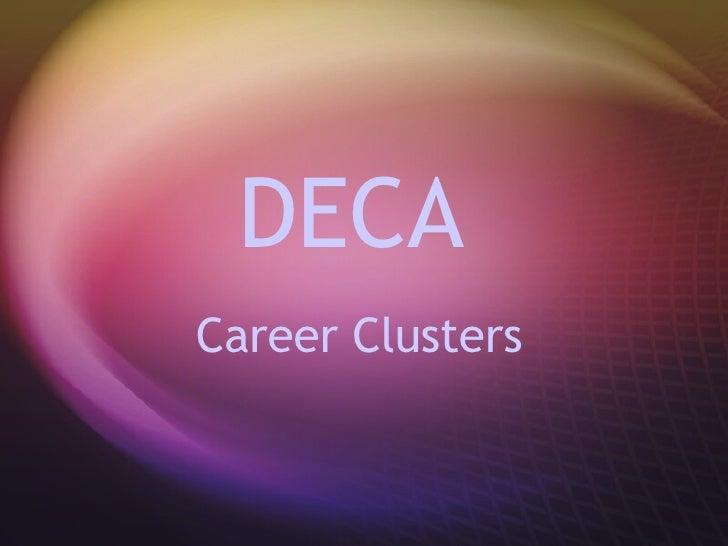DECA  Career Clusters