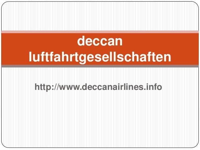 http://www.deccanairlines.info deccan luftfahrtgesellschaften