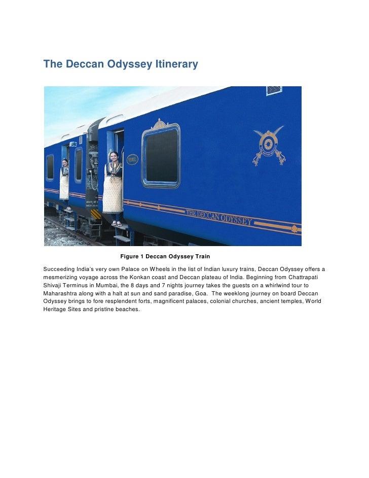 Deccan odyssey Train Itinerary