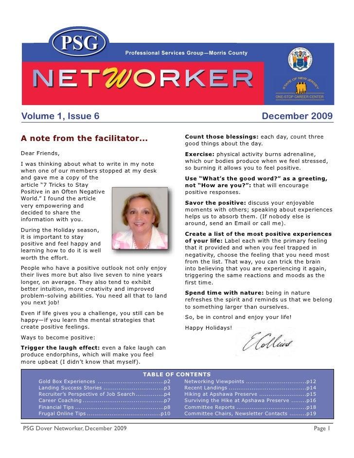 Volume 1, Issue 6                                                                                           December 2009 ...