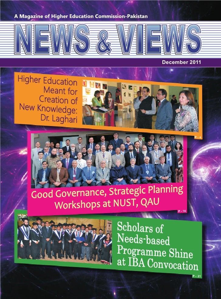 NEWS & VIEWS, HEC Pakistan, December 2011