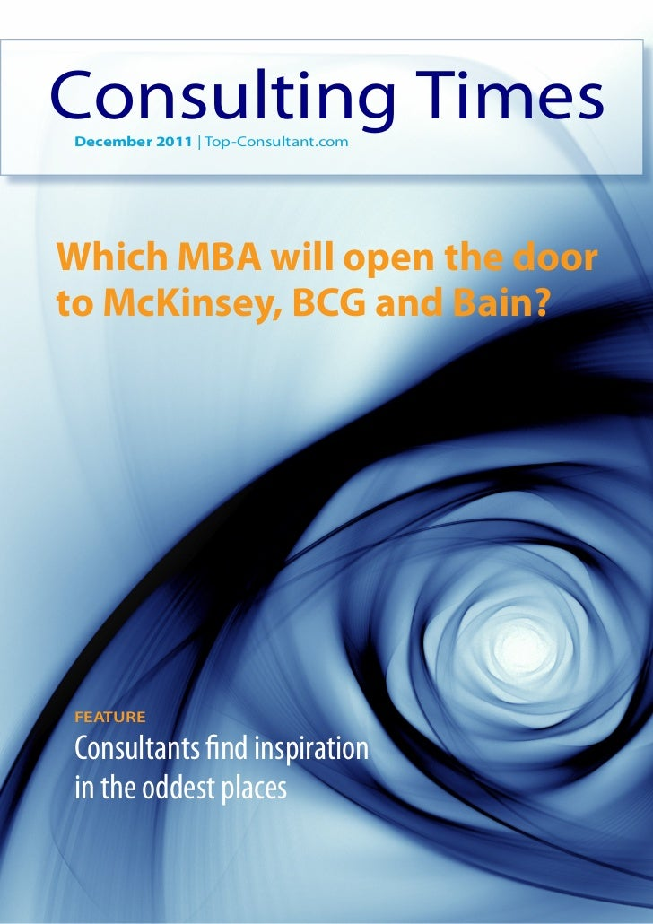 Which MBA will open the door to McKinsey, BCG and Bain?