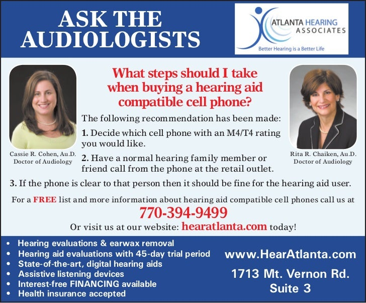 Ask The     AudiologisTs                                What steps should i take                               when buying...
