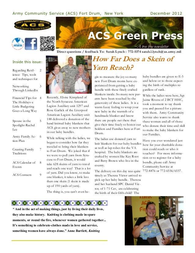 December 2012 green press