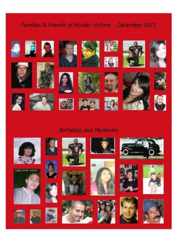 Families & Friends of Murder Victims, INC - December2013 newsletter