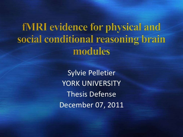 Sylvie Pelletier YORK UNIVERSITY  Thesis DefenseDecember 07, 2011