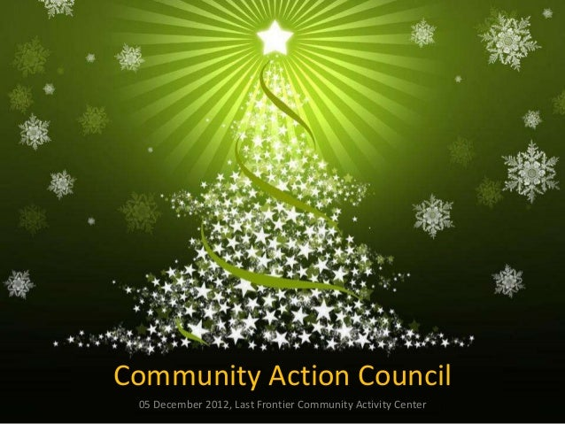 Community Action Council 05 December 2012, Last Frontier Community Activity Center