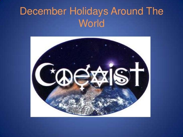 December Holidays Around the World PowerPoint