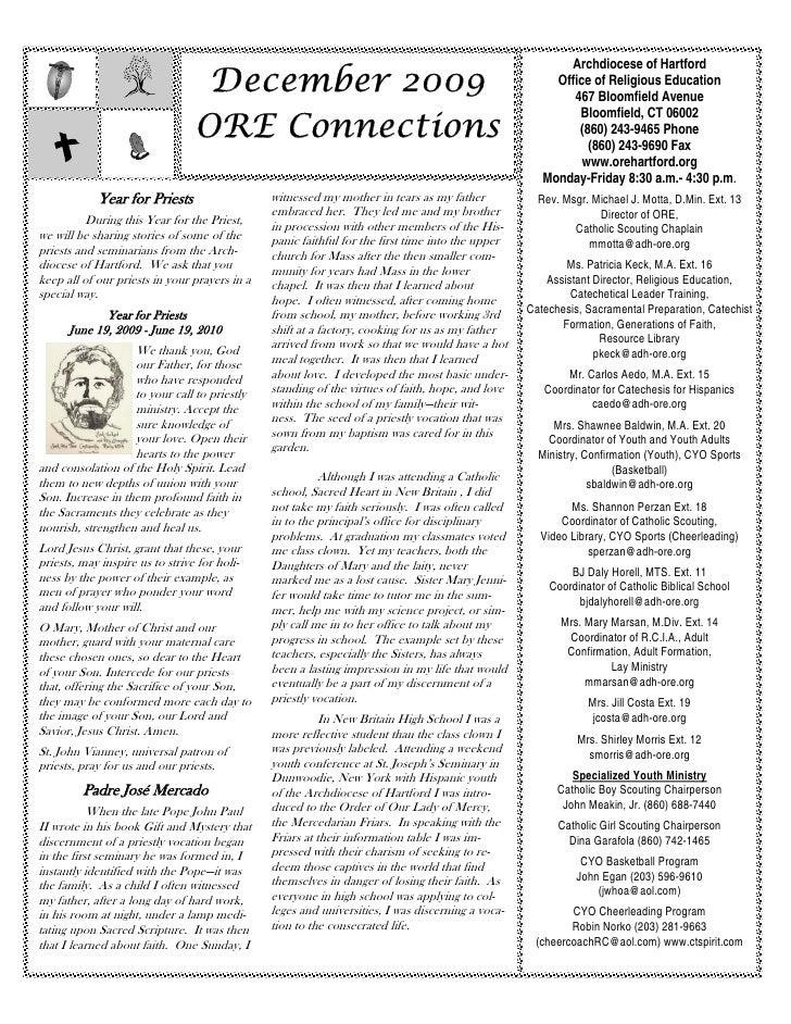 Archdiocese of Hartford                                   December 2009                                                   ...