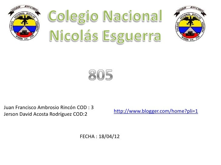 Juan Francisco Ambrosio Rincón COD : 3                                             http://www.blogger.com/home?pli=1Jerson...