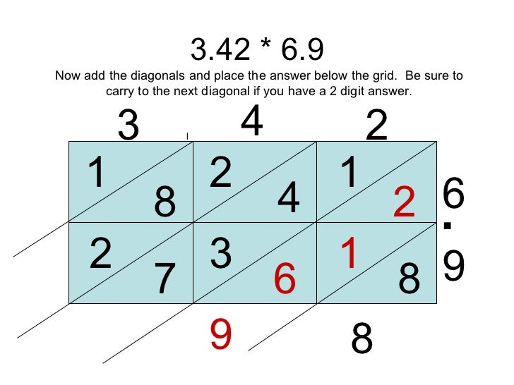 math worksheet : decimal lattice multiplication : Lattice Multiplication With Decimals Worksheets