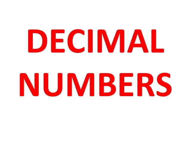 how to read decimal numbers