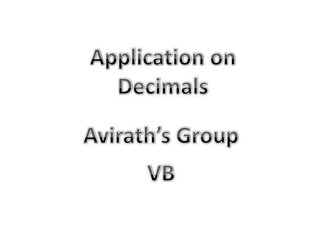 Decimal by Avirath's Group