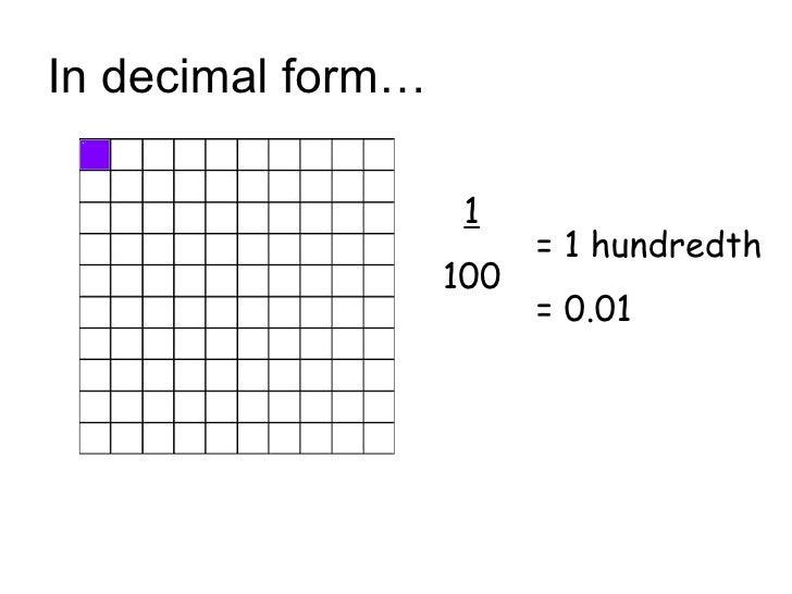 Decimals(1)Hundredths