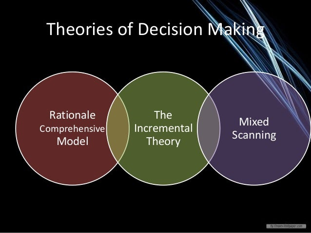 theories models and decision making Classical theories of choice emphasise decision making as a rational process in  general  from this theory, an array of decision making models have emerged.
