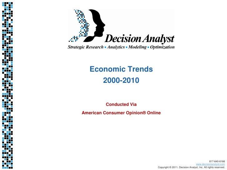 Decision Analyst Economic Trends