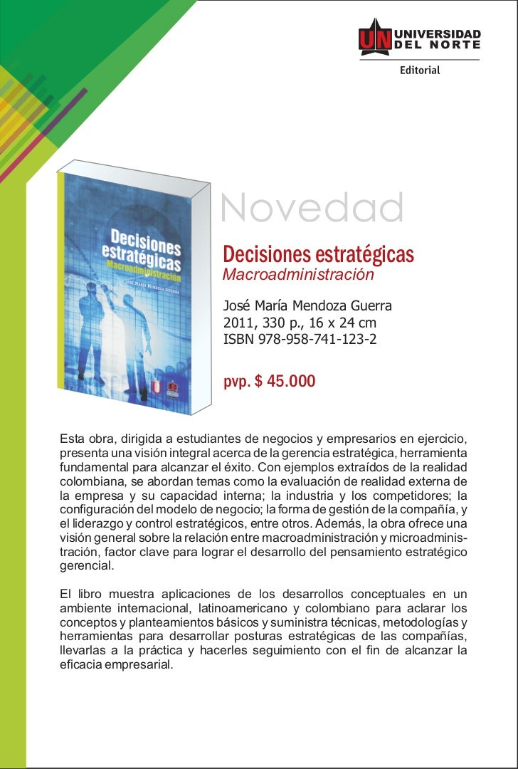 Novedad                              Decisiones estratégicas                              Macroadministración             ...