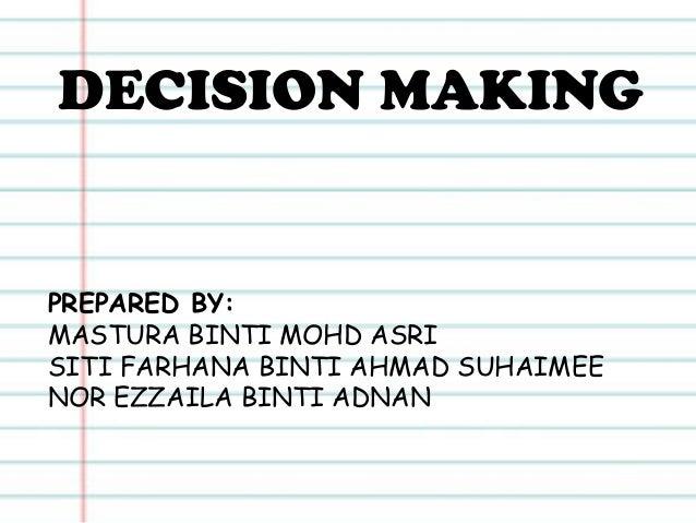 Decision Making 2