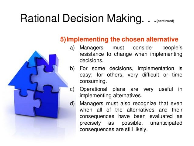rational decision making model essay Elements of a problem to a model can increase the probability of rational  decisions after a discussion of some of the basic theory of decision-making and  model.