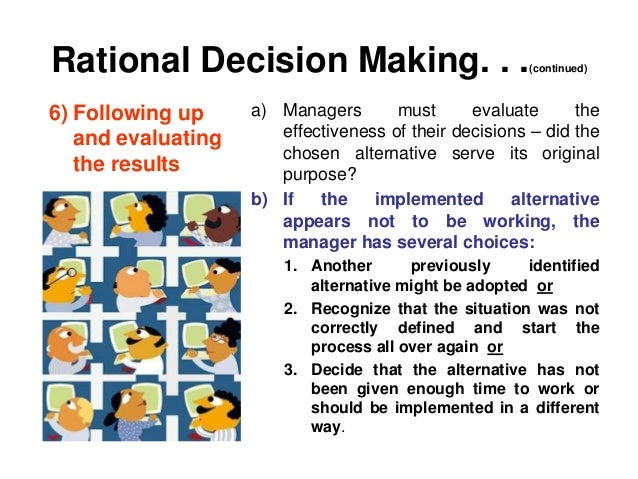 risk and rational decision process We attempt to design a rational process for risk-taking a crucial in any decision-making process, from marketing to waging war, from planning.