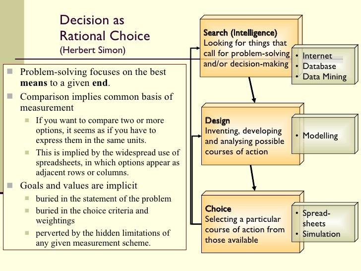 desicion making and problem solving