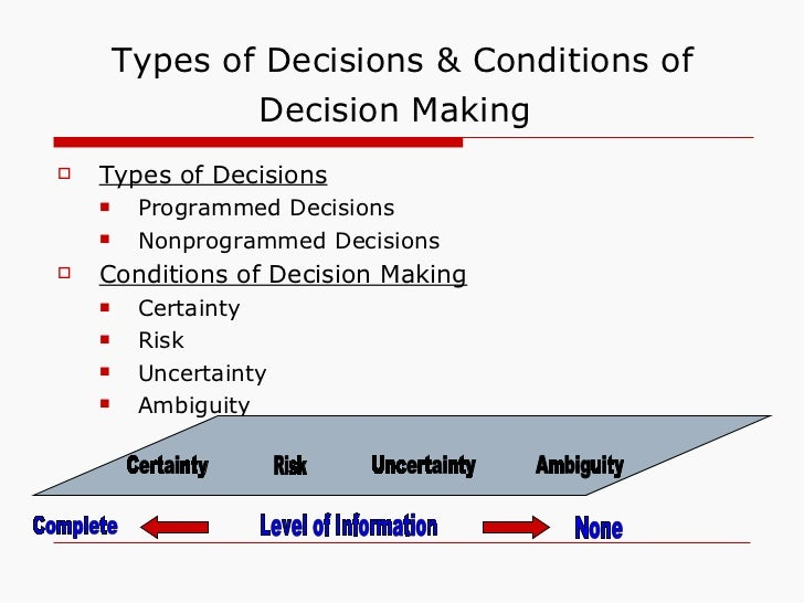 decision making chapter 6